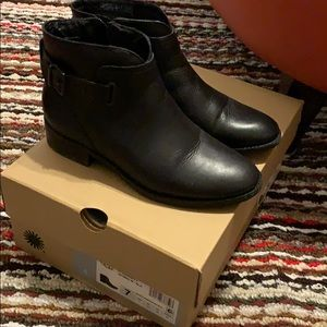 UGG water resistant leather booties